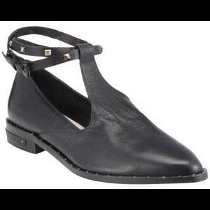 Freda Salvador t-strap ankle wrap loafer